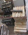 Pietra naturale pakistano nero e oro(Michael Angelo) marmo ferroviario stampaggio sedia