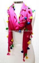 Pompom tassels scarves shawls
