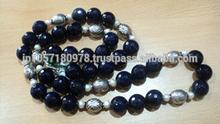 Blue sapphire blue color necklace