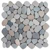 Mosaic Slice Pebbles Mixed Green, Pink and Tan