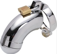 Men Stainless Steel Chastity Device Cage Sex Toy