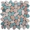 Mosaic Slice Pebbles Mixed Green and Pink