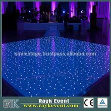 economic used customized portable dance floor 3ft*3ft black tiles
