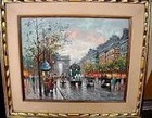 Oil Painting of Paris Street Scene by Antoine Blanchard