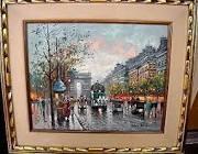 Oil Painting of Paris Street Scene by Antoine Blanchard