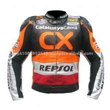 Honda Repsol CX Motorcycle Moto Racing Jacket_ ( Full Safety Motorbike Leather Jacket)