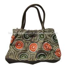 Brocade bag made of thenic cloth, long straps, 100% handmade from Vietnam