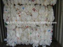 HDPE MIXE PLASTIC BOTTLE SCRAP IN BALES, MILK BOTTLE WHITE, NATURAL HDPE WASTE