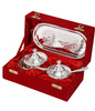 Kitchen Decor Indian Silver Plated Brass Bowls Handicrafts Silver Plating Gift Items