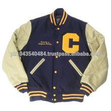 Wholesale Custom wool Letterman jacket , Varsity jackets wool body , baseball jackets for men and women