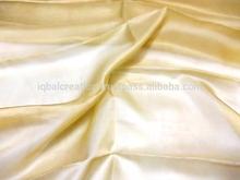 Indian silk organza fabric, 100% silk, champagne