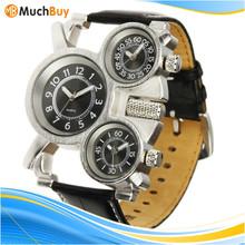 Military Quartz Dial multi time zone shark sport Quality wrist watch