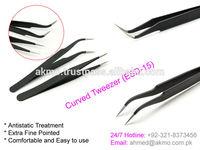 High Precision Vetus ESD-15 Anti-static Stainless Steel Tweezers/ Eyelash Extension Tweezers