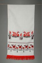 "Cross stitched rushnik ""Swans"""