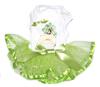 custom logo dog Parfum Tutu Dress with Rhinestones in Lime apparel dress clothes