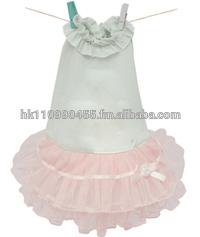 dog custom clothes logo Louis Dog Duckling Ballerina Dress in Pink dress