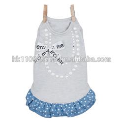 promotional dog Louis Dog Organic Denim Dress- Cloud Blue apparel dress clothes