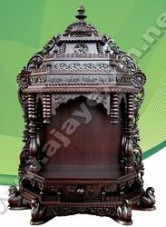 Indian Pooja Mandir of High Quality Wood Carving