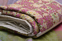 """Blanket made from scraps """"Roses"""""""