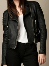 latest cheap PU motorcycle woman leather jacket