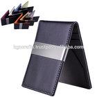 metal genuine leather luxury men wallet