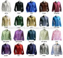 Men's thai silk dress shirts , Silk Formal Shirts , Thai Silk Plain and Pattern Dress Shirts ,