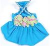 dog Floral Braided Tank Dress apparel dress clothes