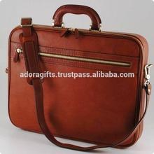 "ADALLB - 0034 Universal Leather Executive Case For Laptop Bag / Solo Classic 16"" Laptop Portfolio"