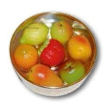 OLo Marzipan fruit in golden box