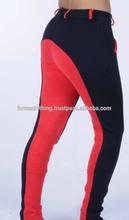 Horse Clothing Impex Ladies Two Tone Jodhpurs - Cotton/Elasten - Red/Navy