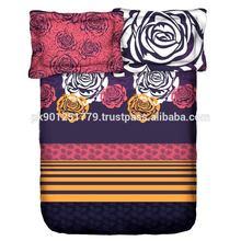 printed thread count egyptian cotton bedsheet sets , Cotton Bedsheet Sets Printed Cotton Fabrics / flower printing bedsheet set