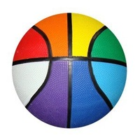 Rainbow black lining custom designs Basketball Rubber Solid Basketballs, Available customization
