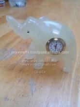 Onyx Elephant Clock