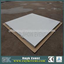 shiny white tiles wood dance floor event flooring fast setup