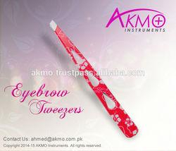AKMO Slanted Tips Eyebrow Tweezers for Hair Plucking