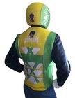 SkullSkins X Factor Green/Yellow Large Reflective Motorcycle Jacket Vest