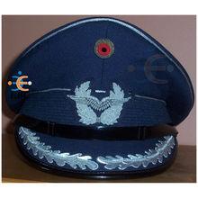 OEM Customized Military Peak Cap | Embroidered military peak cap with badge | military navy air force peak cap headwear