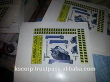 Custom A5 Sheet Multi kiss cut vinyl stickers waterproof Outdoor Uv coated high quality printing