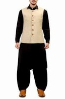 Designer Mens Kurta GI_5085 - RICH WEDDING MENS KURTA - Kurta Shalwar Designs for Men with heavy embroidery - Pakistani Men's