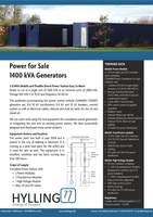 Cummins power plant 2x 1400 kVA