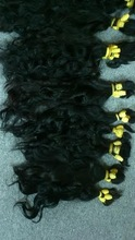 Single Drawn Curly Bulk high quality Hair 55 cm
