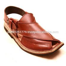 Laminated leather Peshawari Chappal Sandals , High Quality desi Shoes , Pathan tribal shoes