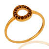 Indian supplier 9K Solid Yellow Gold Smoky Quartz Ring Jewelry, Smoky Quartz Gold Ring Jewelry Manufacturer