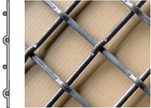 One-sided pressed wire netting