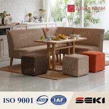Confiável e elegante sala de estar mobiliário l forma sofá para uso doméstico