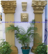 Royal building design natural stone outdoor marble column and pillar