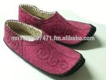Mongolian original hand made felt slippers