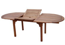 Outdoor Oval Extension Table, Acacia wood