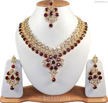 Bellydance Extreme Beauty Kundan Zirconia Necklace Set