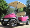 Pink Club Car 48V Golf Cart With Custom Rims & Tires